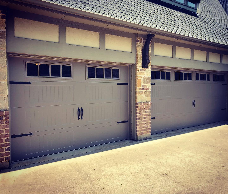 carriage style garage door installation project denton, tx