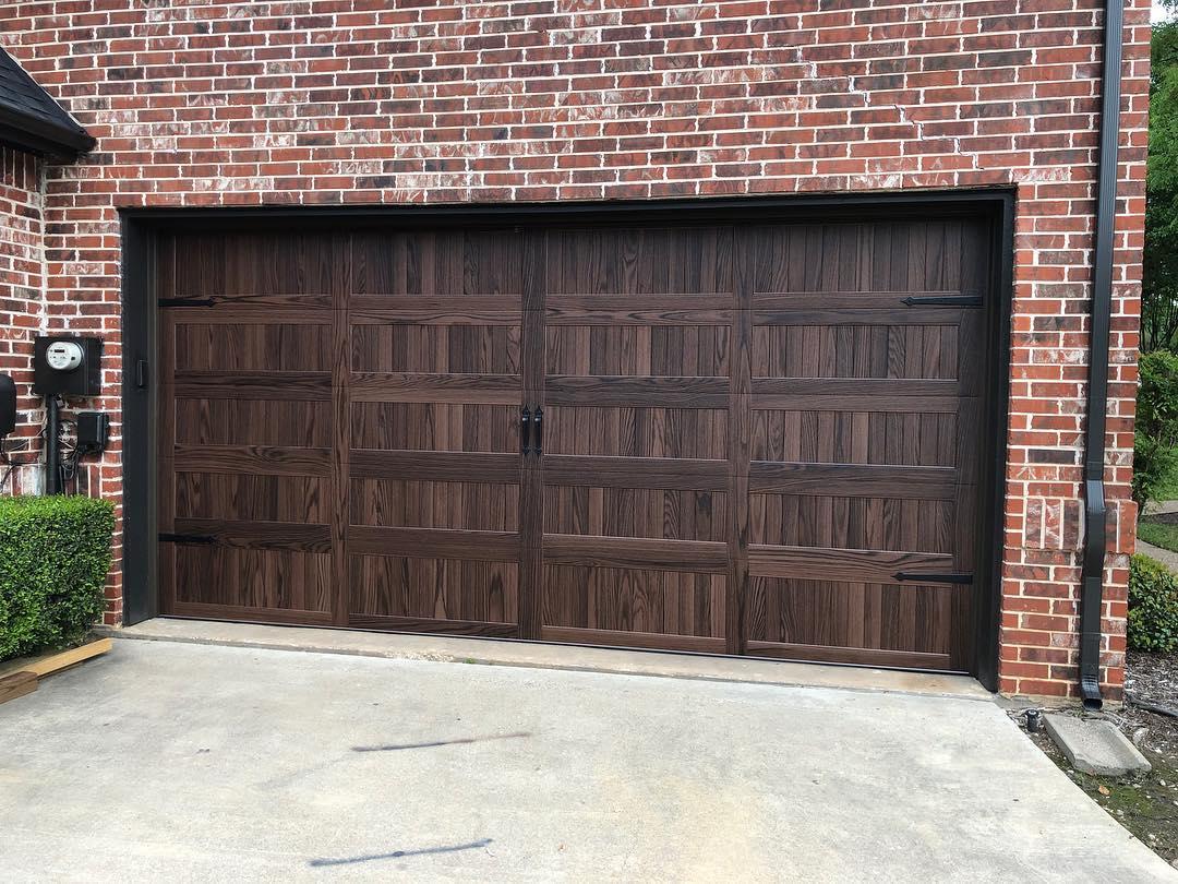 metal garage door installation project in Lantana, TX