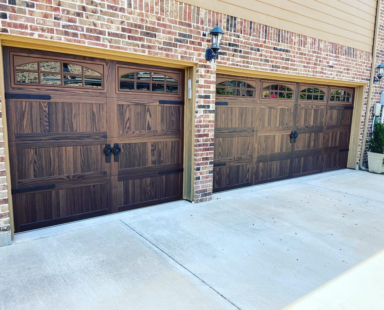 green eagle metal garage door installation project