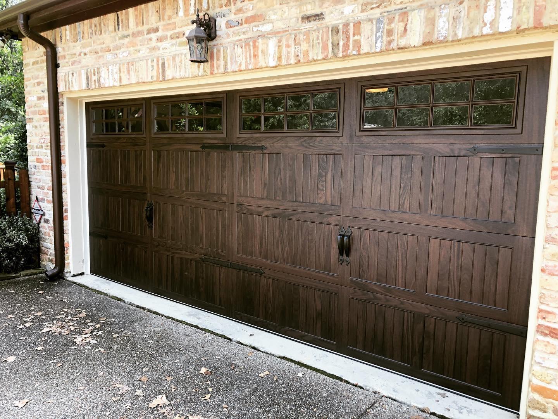 metal cedar style garage door low maintenance