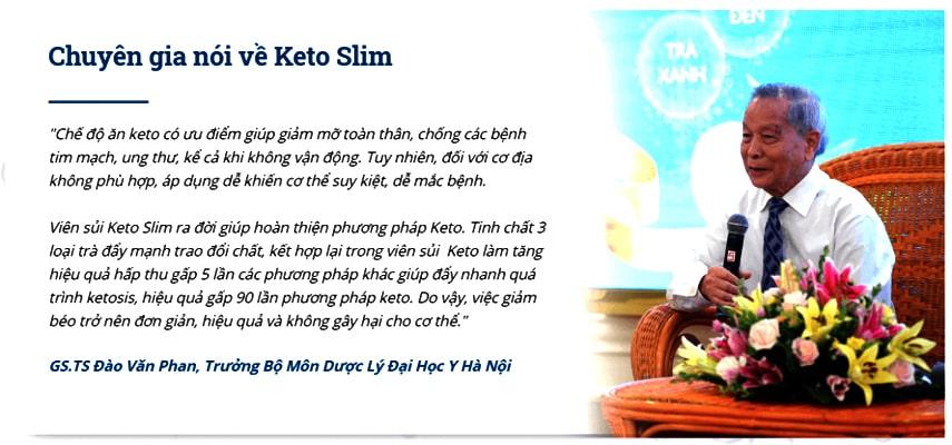 Chuyên gia dinh dưỡng Việt nam nói về Keto Slim
