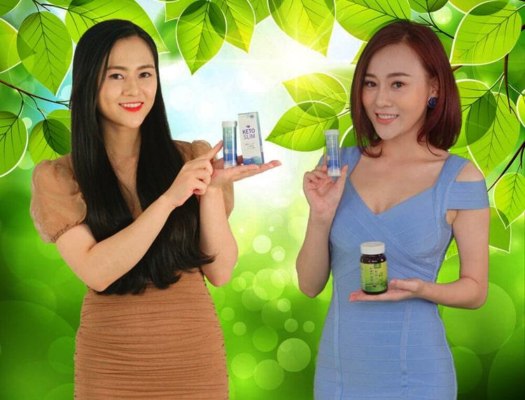 Phương Oanh và Việt Hoa review Keto Slim