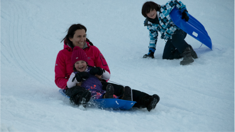 Sledging and tubing in Switzerland