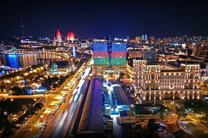 cityscape nightlights baku