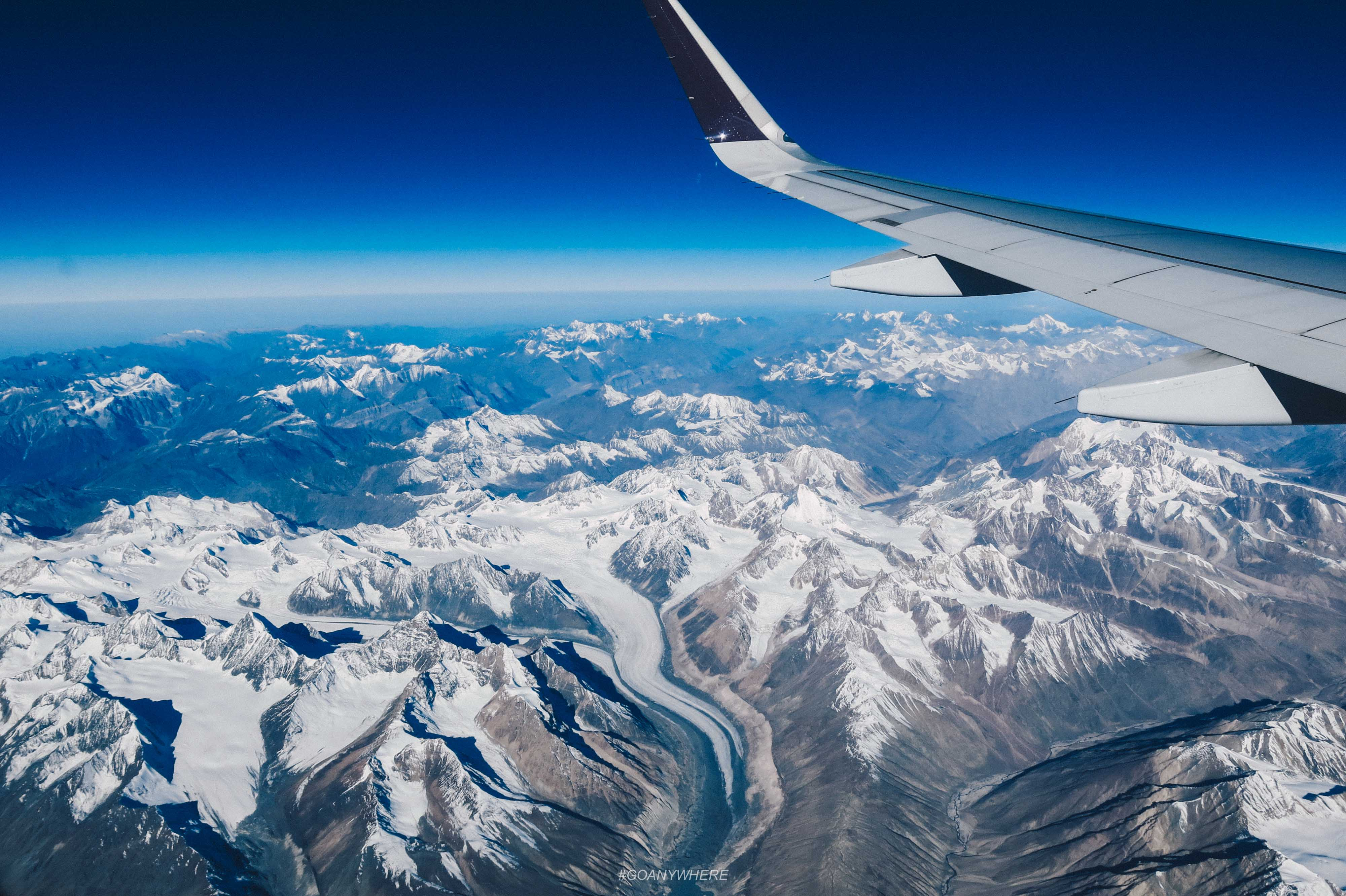 Aerial View of mountains of Leh