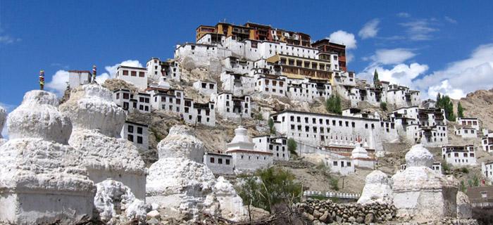 white Monastery Leh