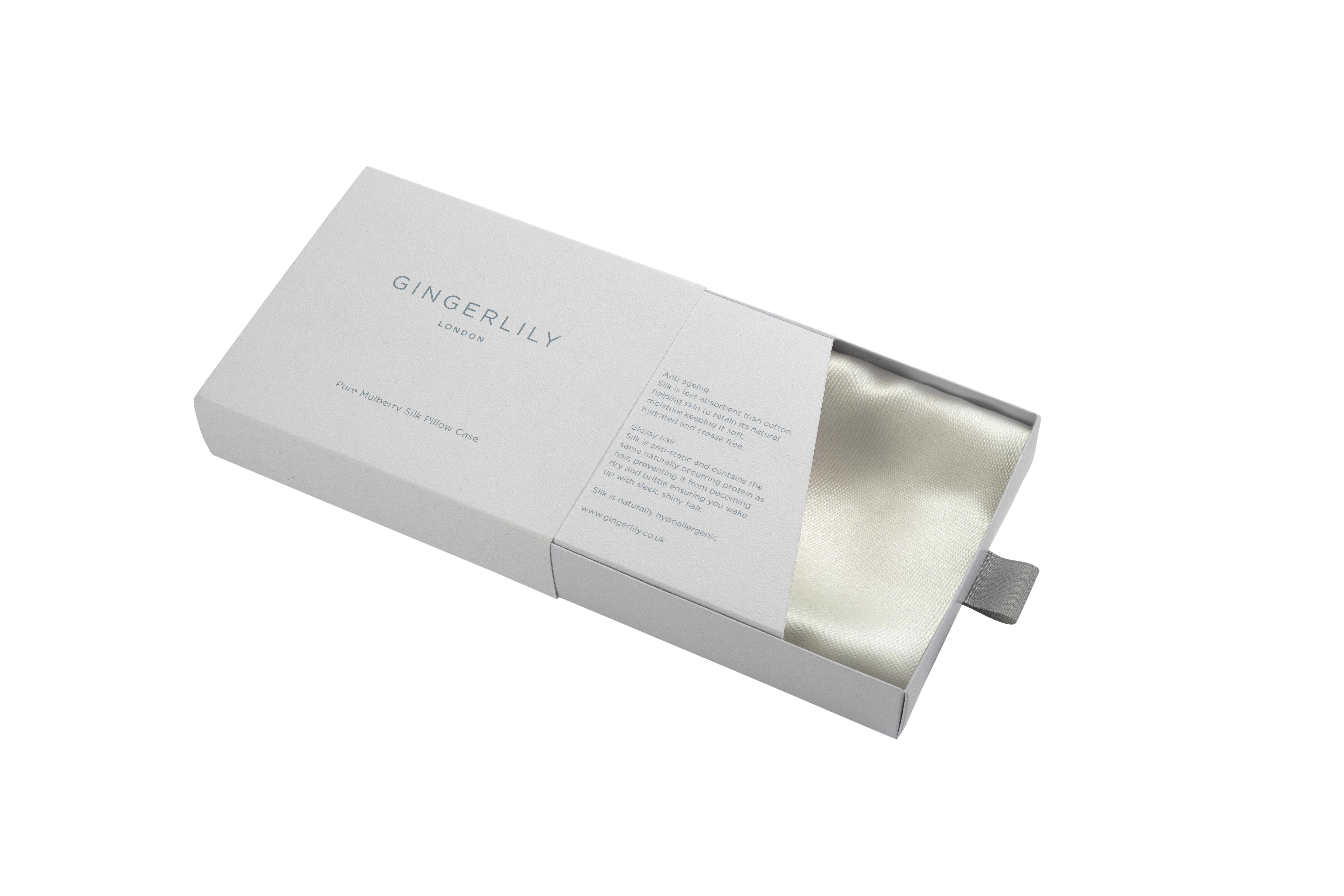 Pure Mulberry Silk Pillowcase in Ivory