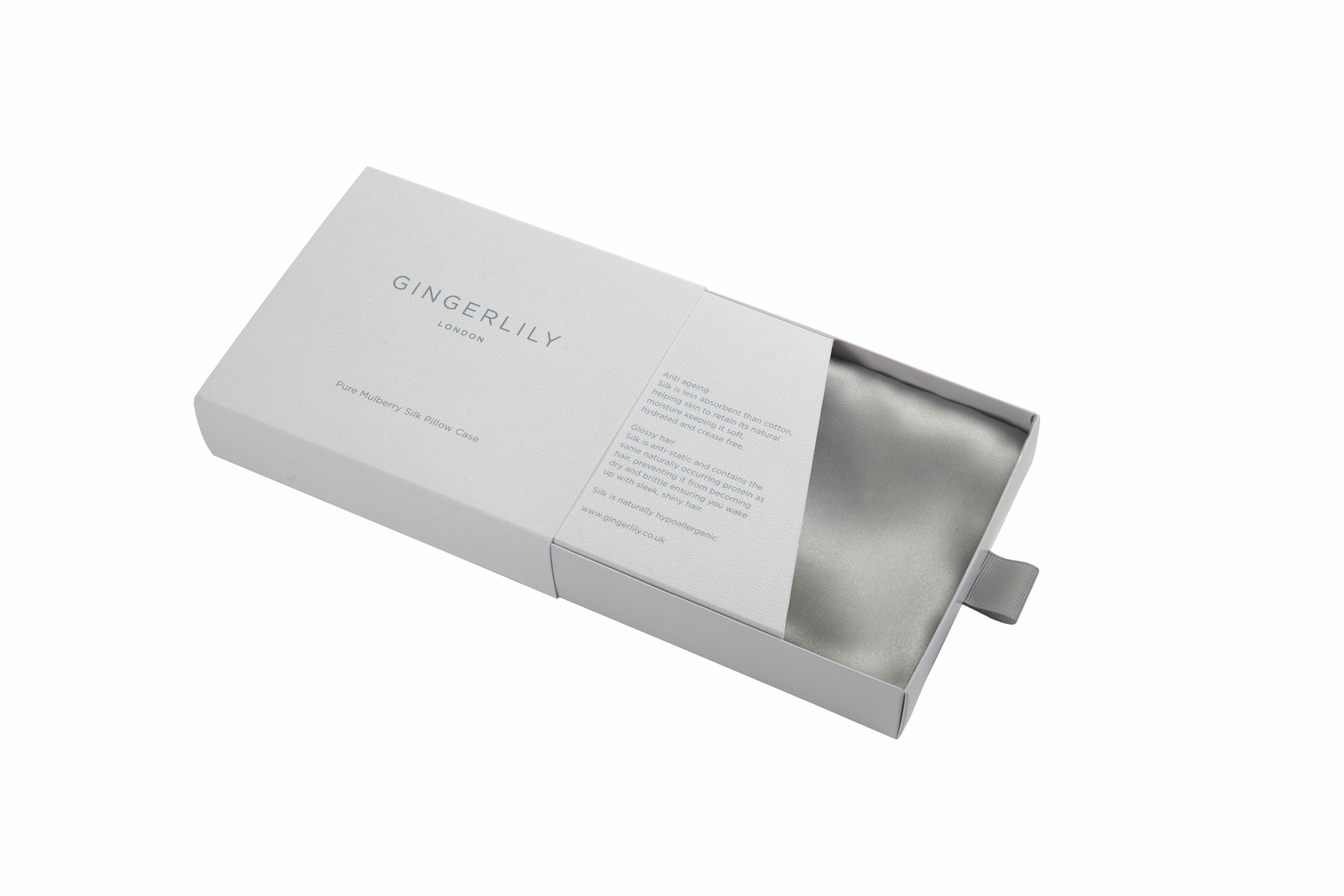 Pure Mulberry Silk Pillowcase in Silver/Grey