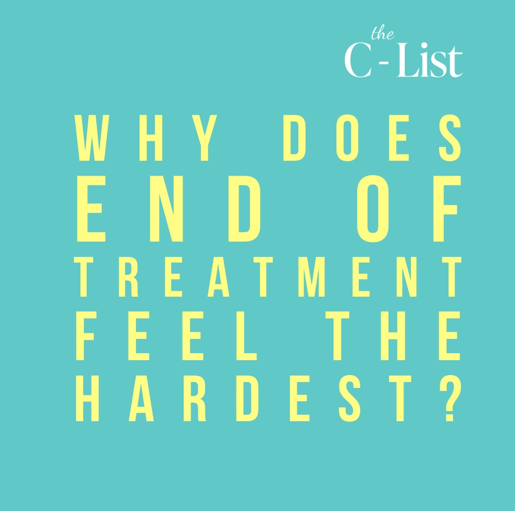 Why is the end of cancer treatment so often the hardest part of the whole journey? Is PTSD a real thing when it comes to cancer? I think so...