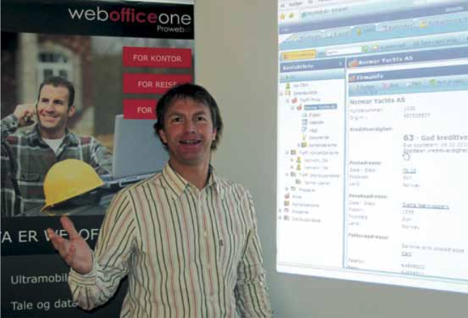 Webson CRM Historie Sjef