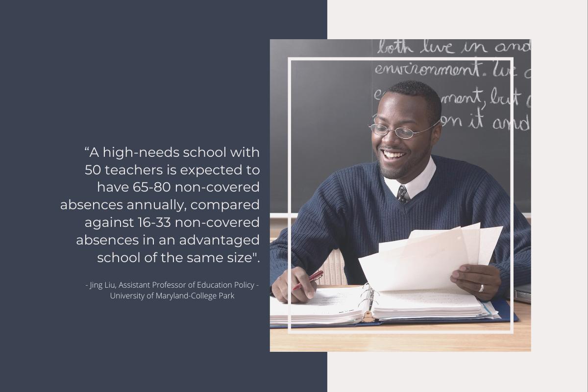 substitute teacher shortage and disadvantaged schools