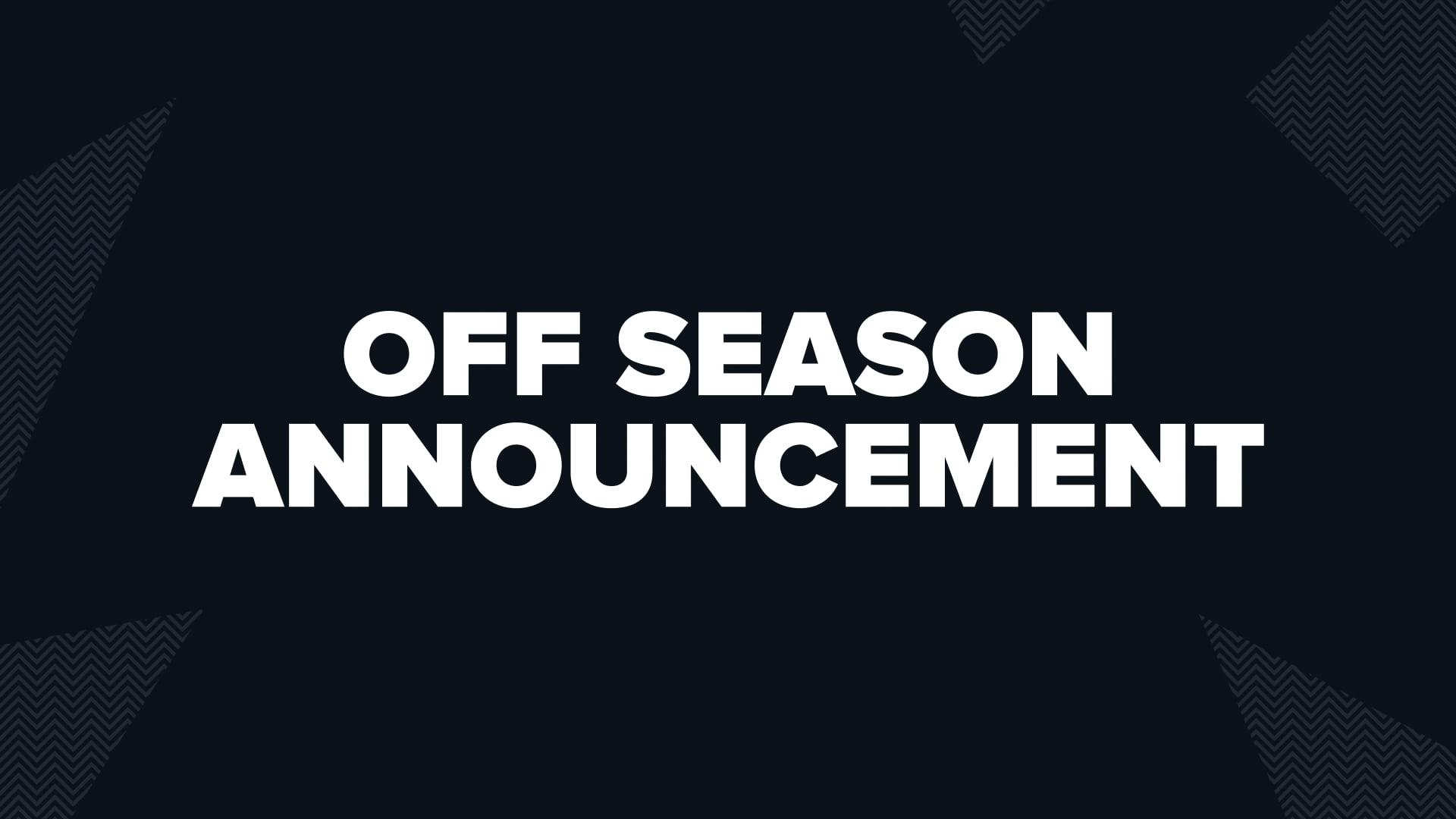 Dire Wolves Off Season Announcement