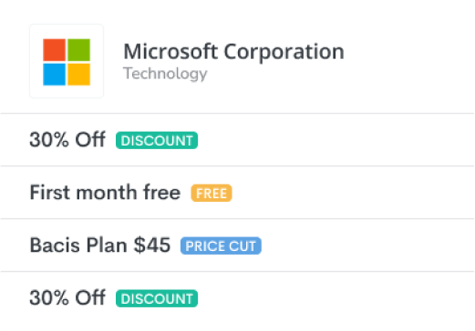 Microsoft offers deals on Proven.