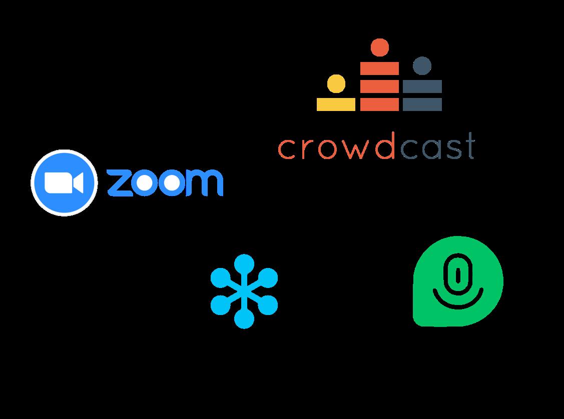 Webinar hosting logos