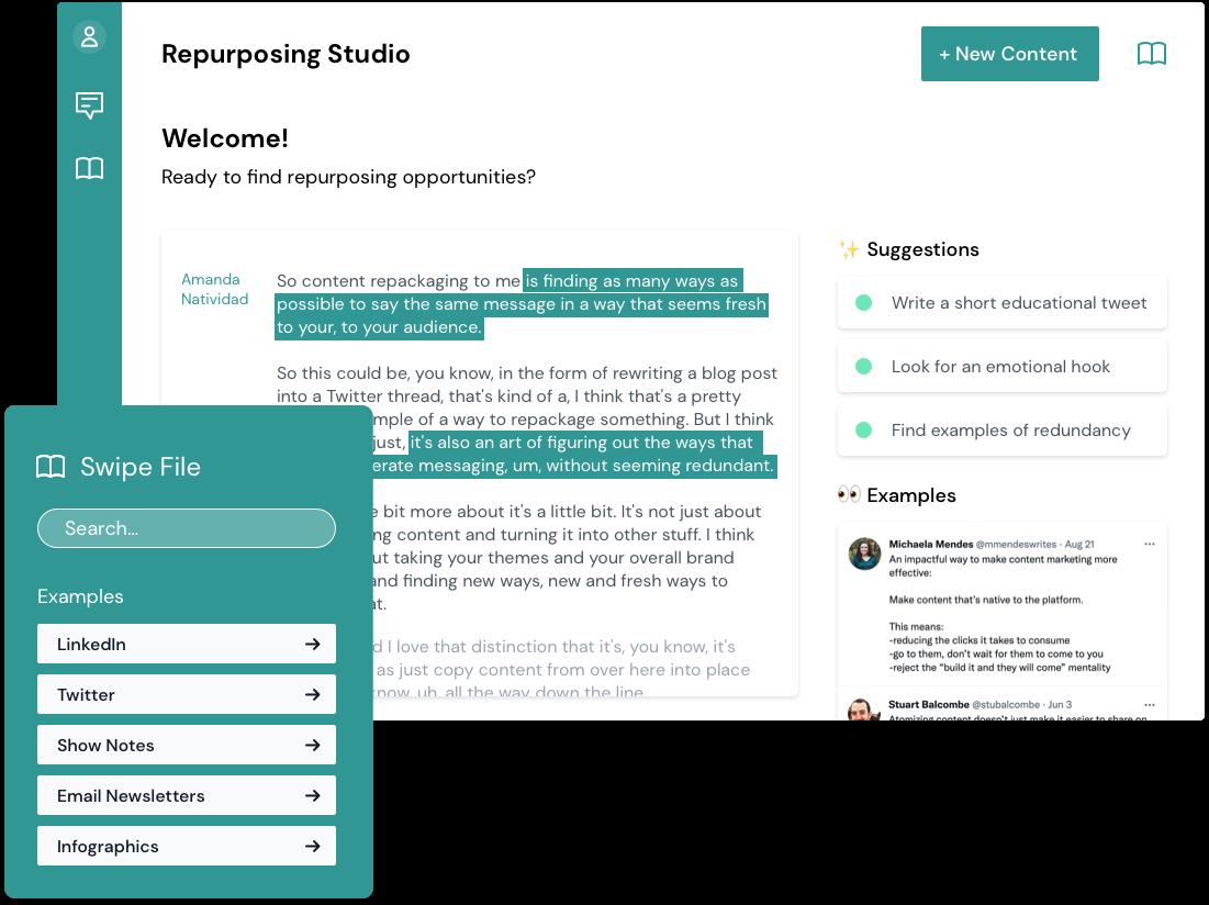 Content Repurposing App Screenshot