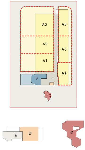 Plan plots division example, Via Industria, Biasca
