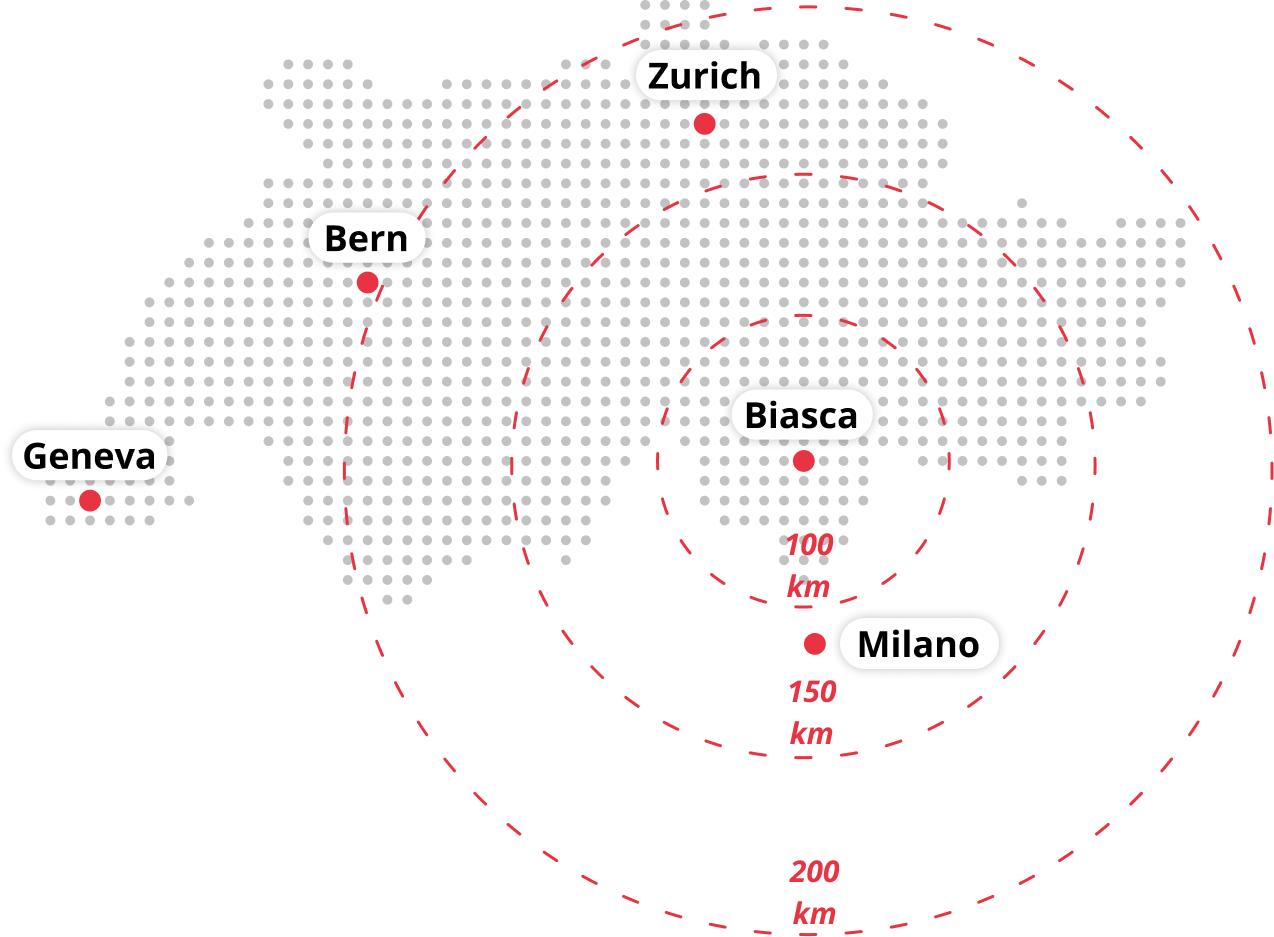 Location map, Via Industria Biasca