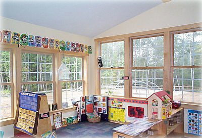 photo of bright and sunny preschool classroom