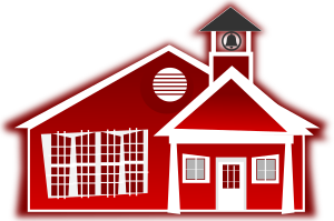 Vector illustration of Lyme Nursery School Building