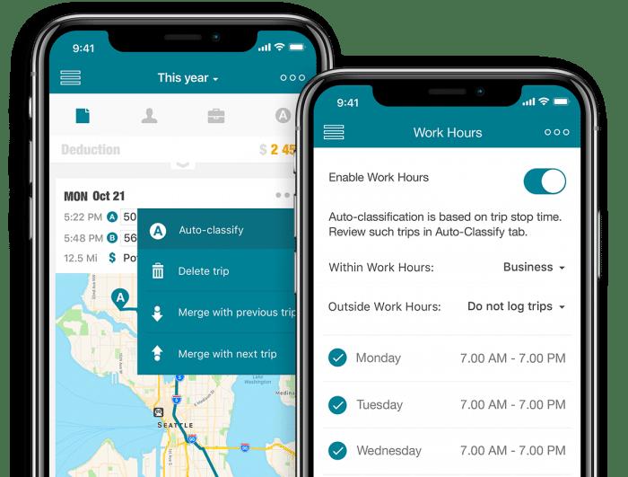 Work hours Auto-Classify™ screenshots