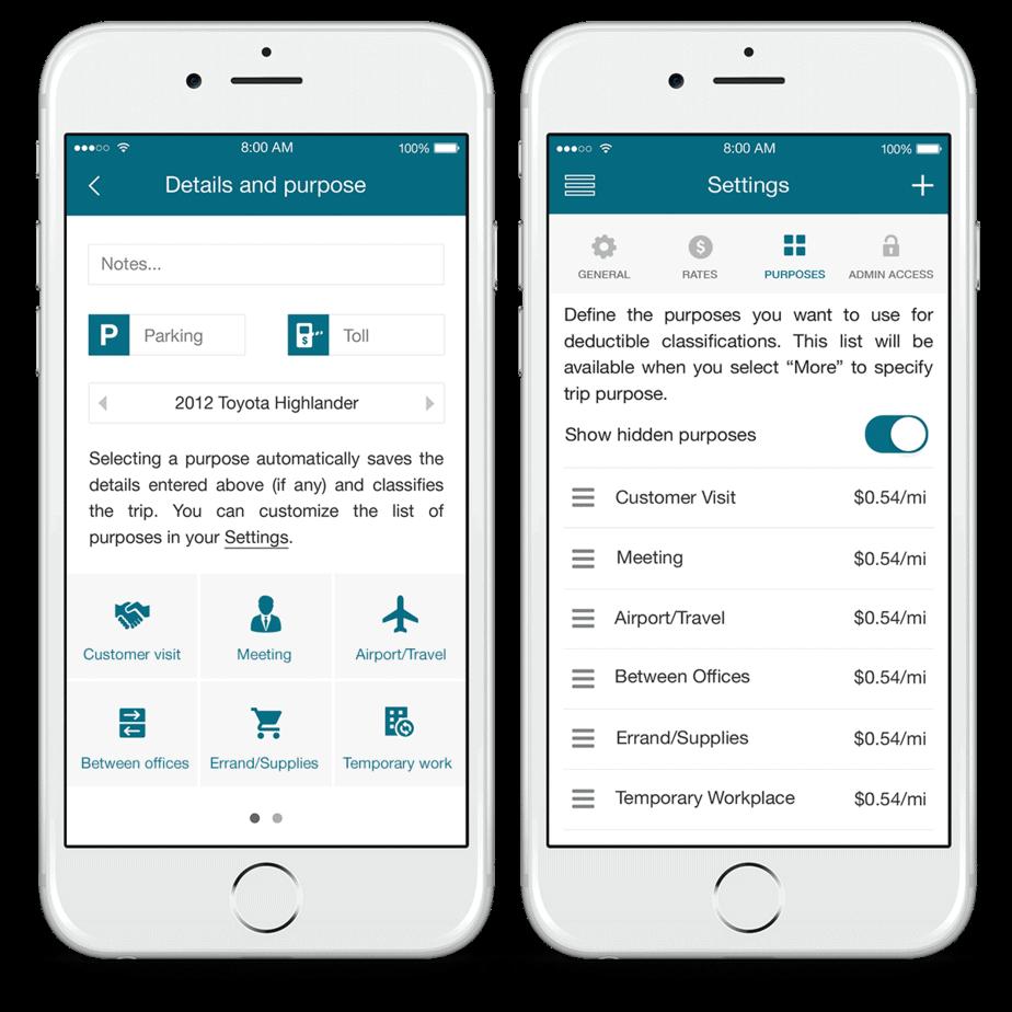 In app details screenshots on two phones