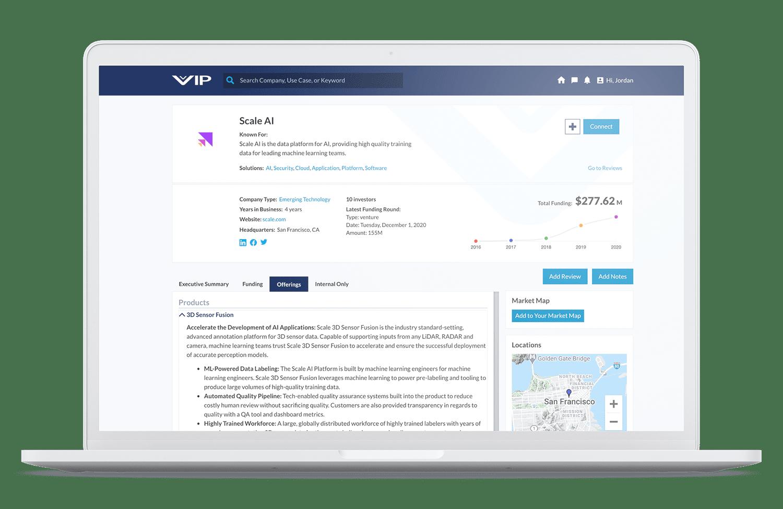 Vation Innovation Platform Profile Screen