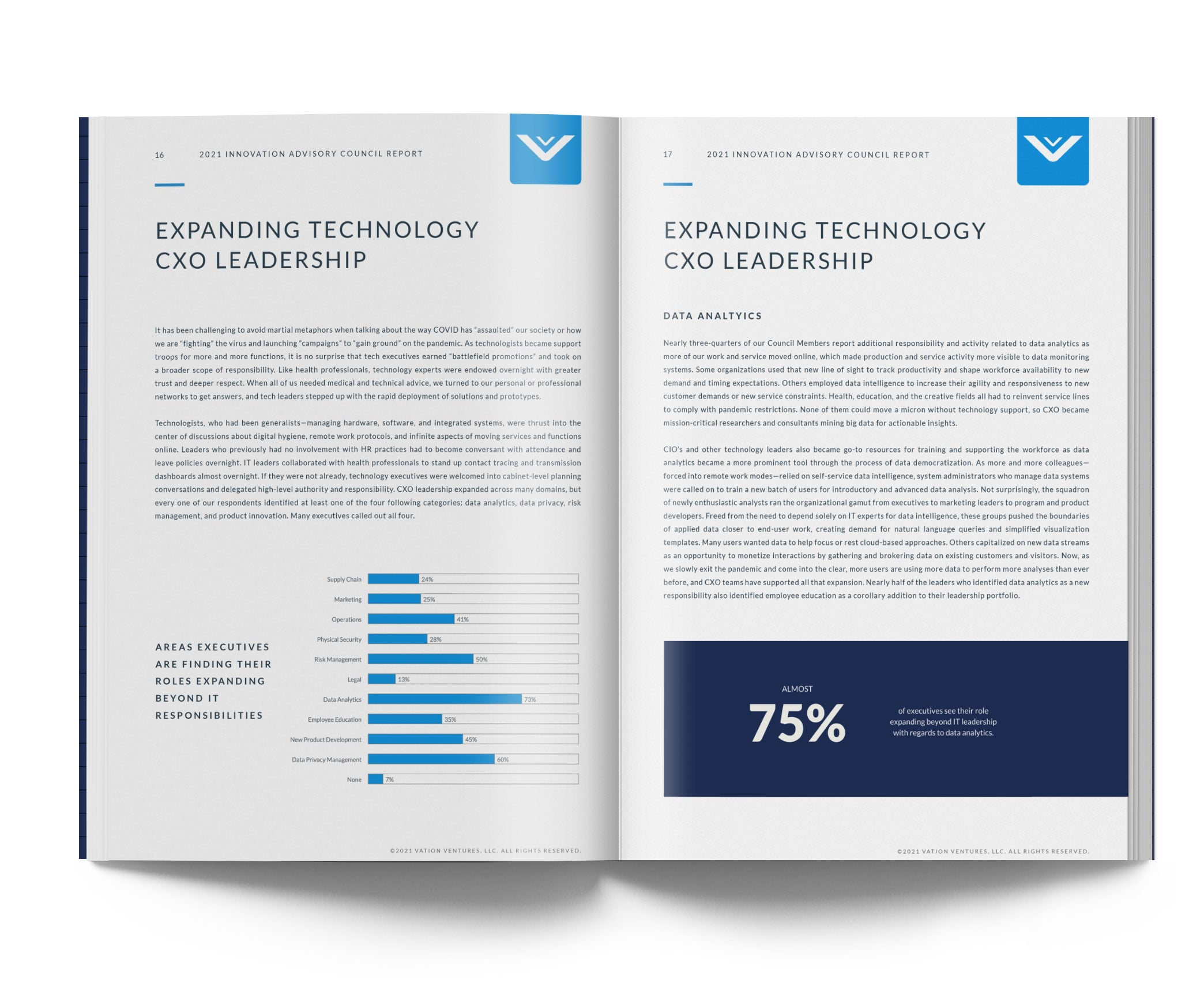 open page of 2021 innovation advisory council report
