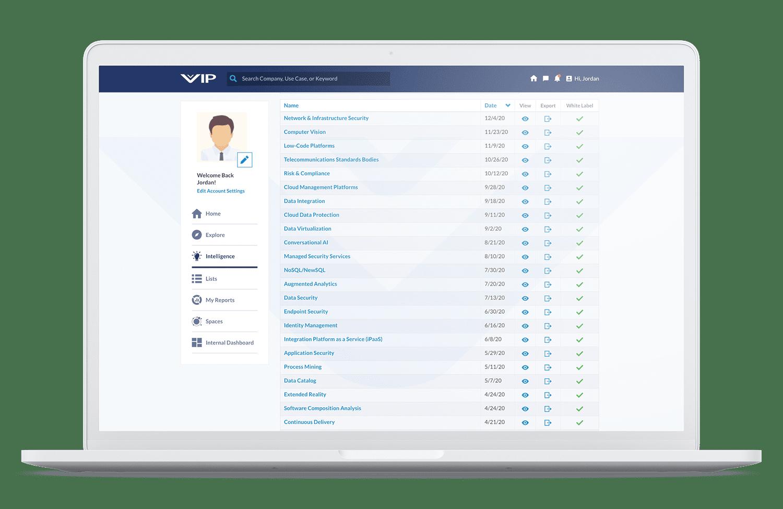 Vation Innovation Platform Research Home Page