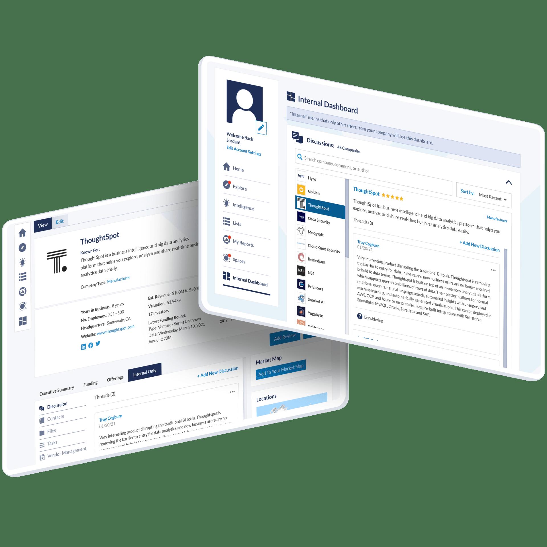 vation innovation platform mockup