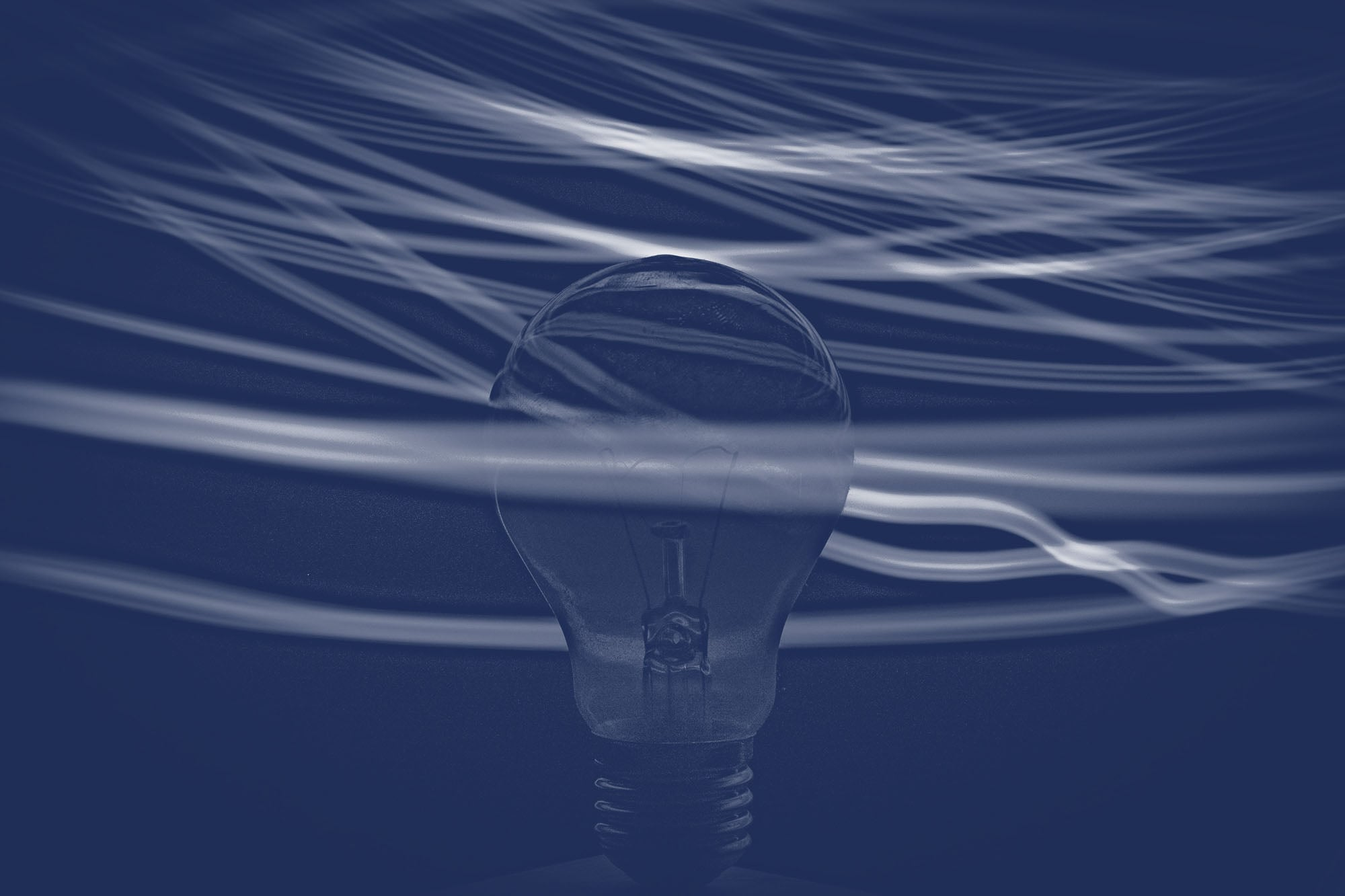 an abstract image of a lightbulb