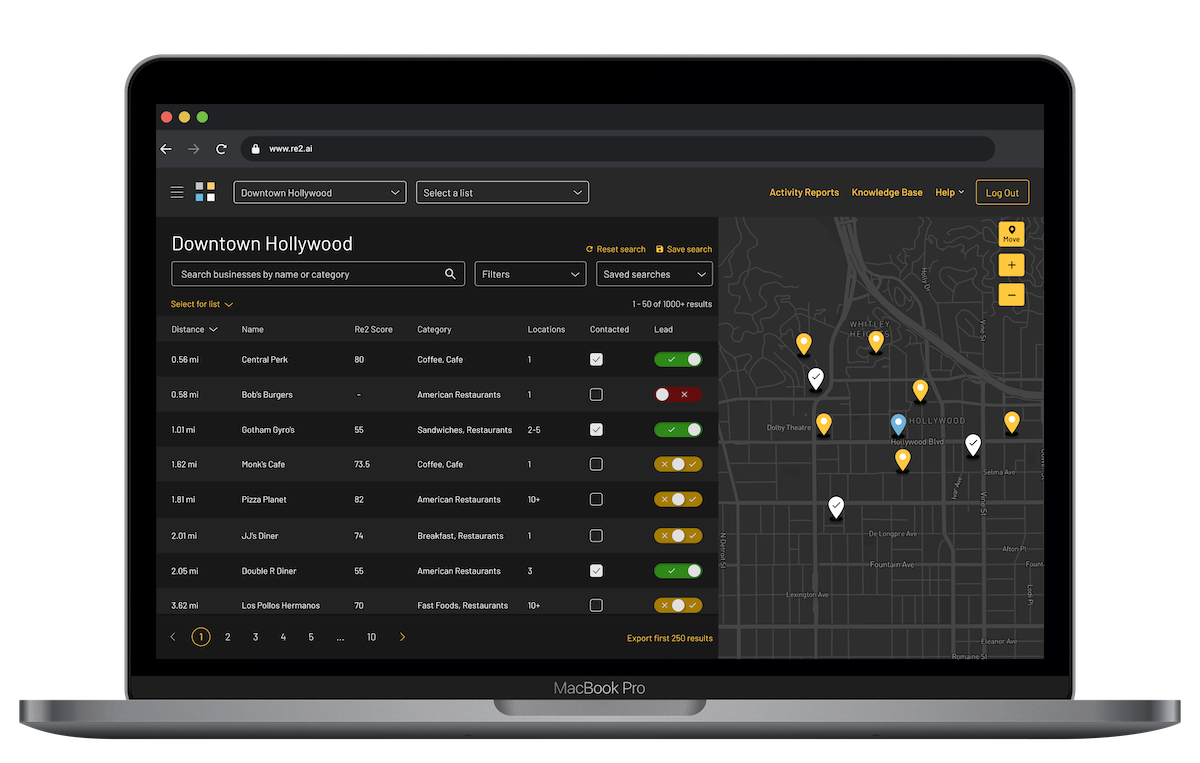 Resquared platform screenshot