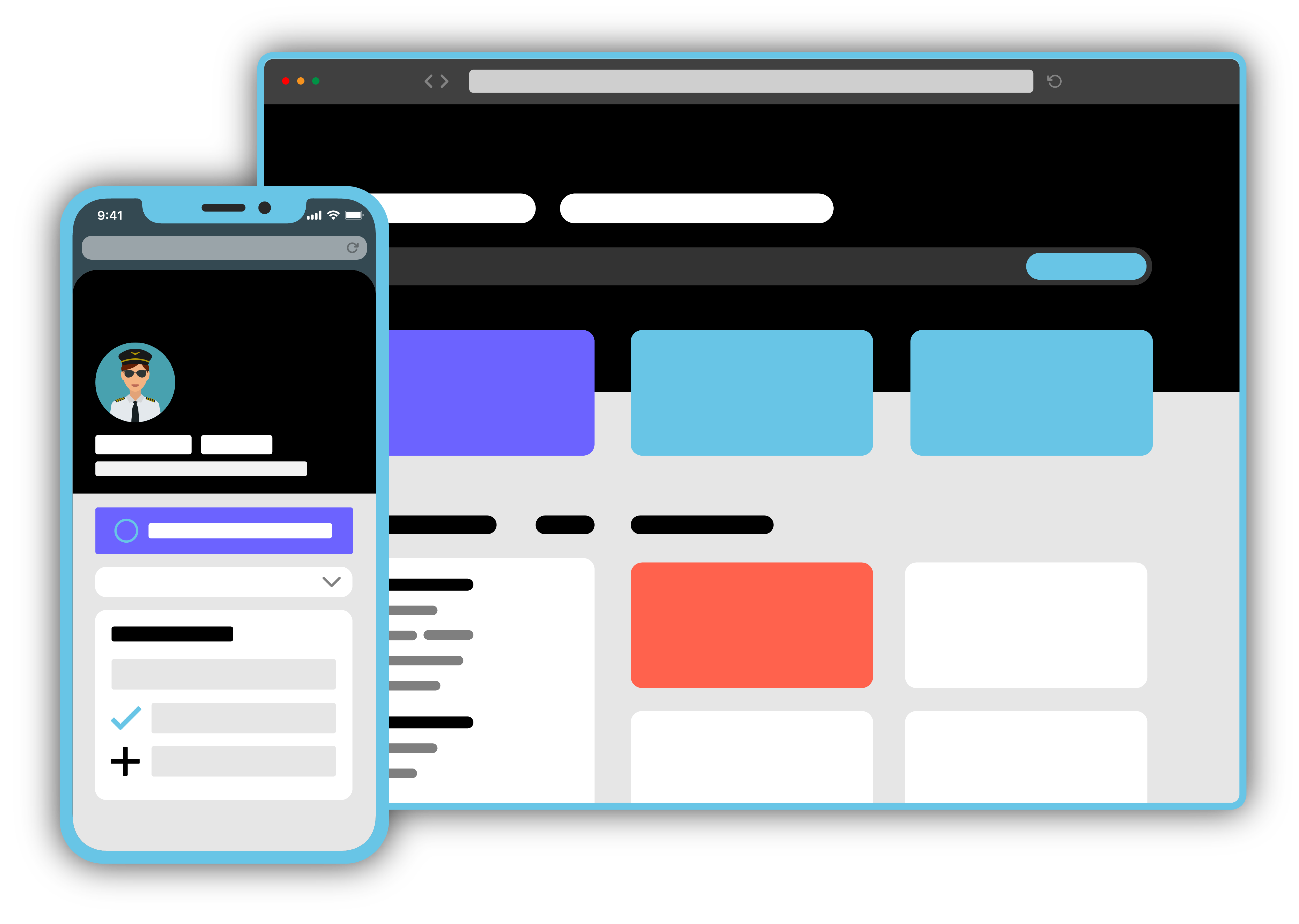 Pilotbase Pilot Job Board Graphic for Desktop and Mobile