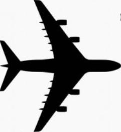 Airbus A380 birdseye view silhouette