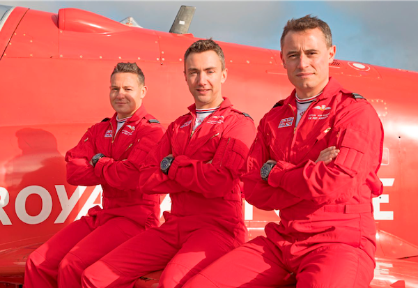 Red Arrows Pilots and Jet
