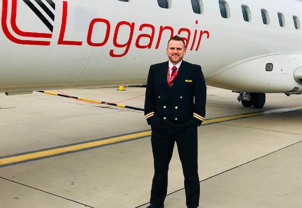 First Officer Mike Burgess Loganair