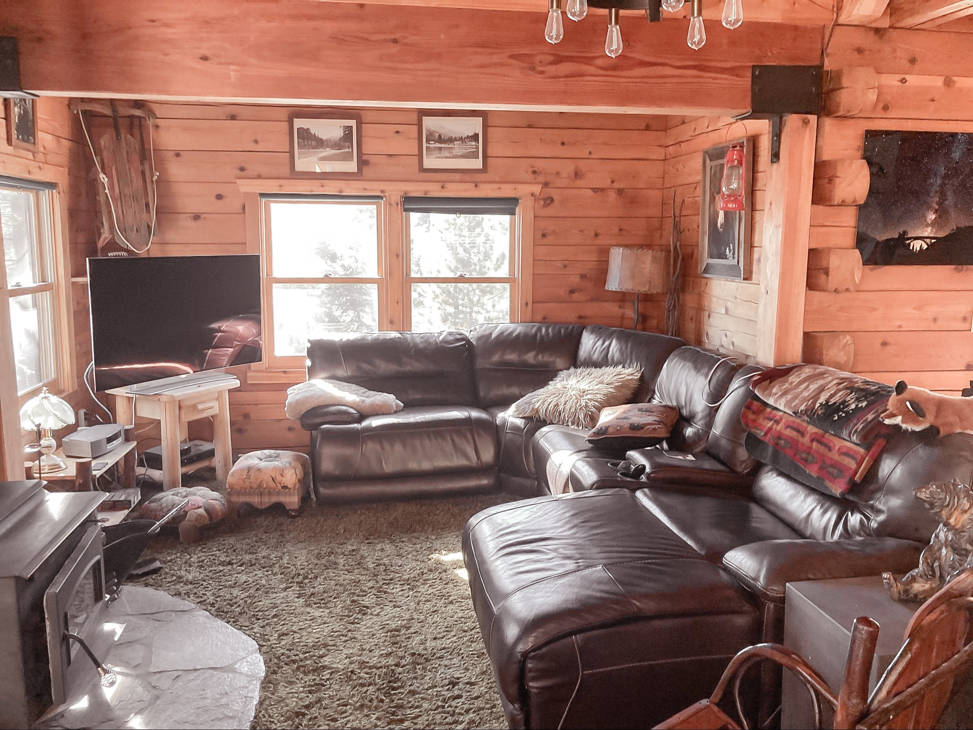 Ski Slope Cabin Before & After