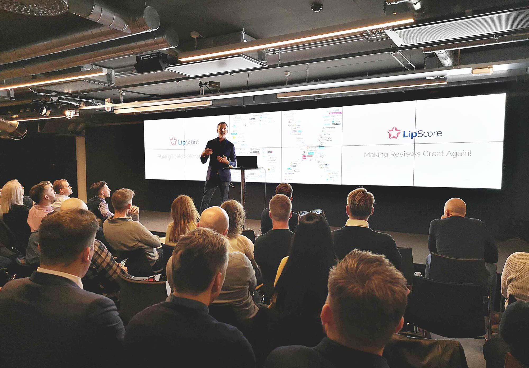 Presenting LipScore at Martech Oslo