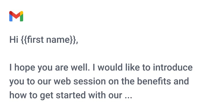 Example of an editor to write mails to your clients with.