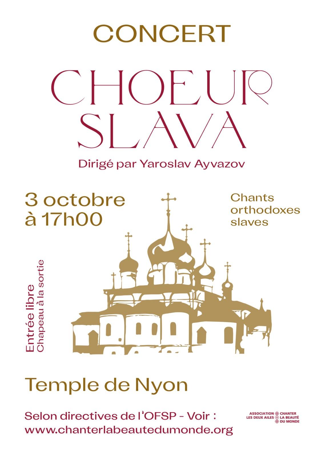 Concert Cœur Slava 3 octobre