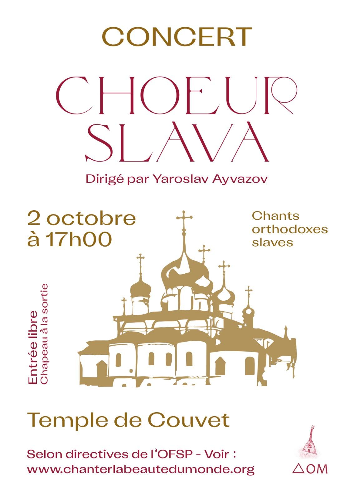 Concert Cœur Slava 2 octobre