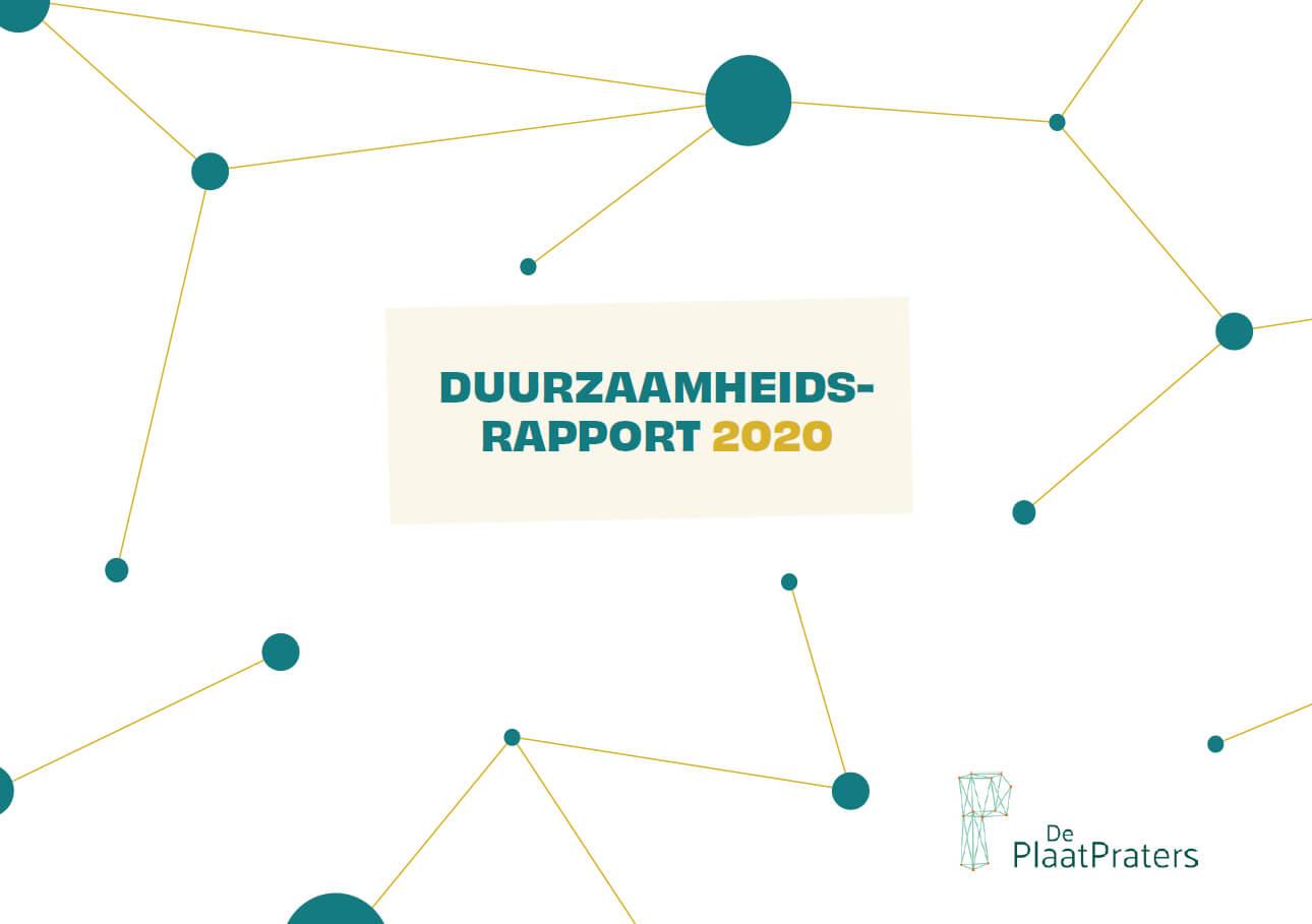 Voorkant van duurzaamheidsrapport 2020