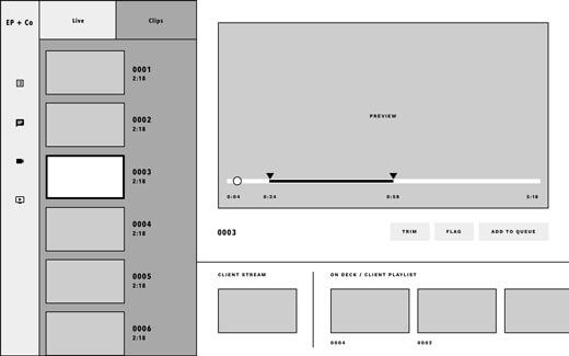 A concept wireframe for the V3 platform