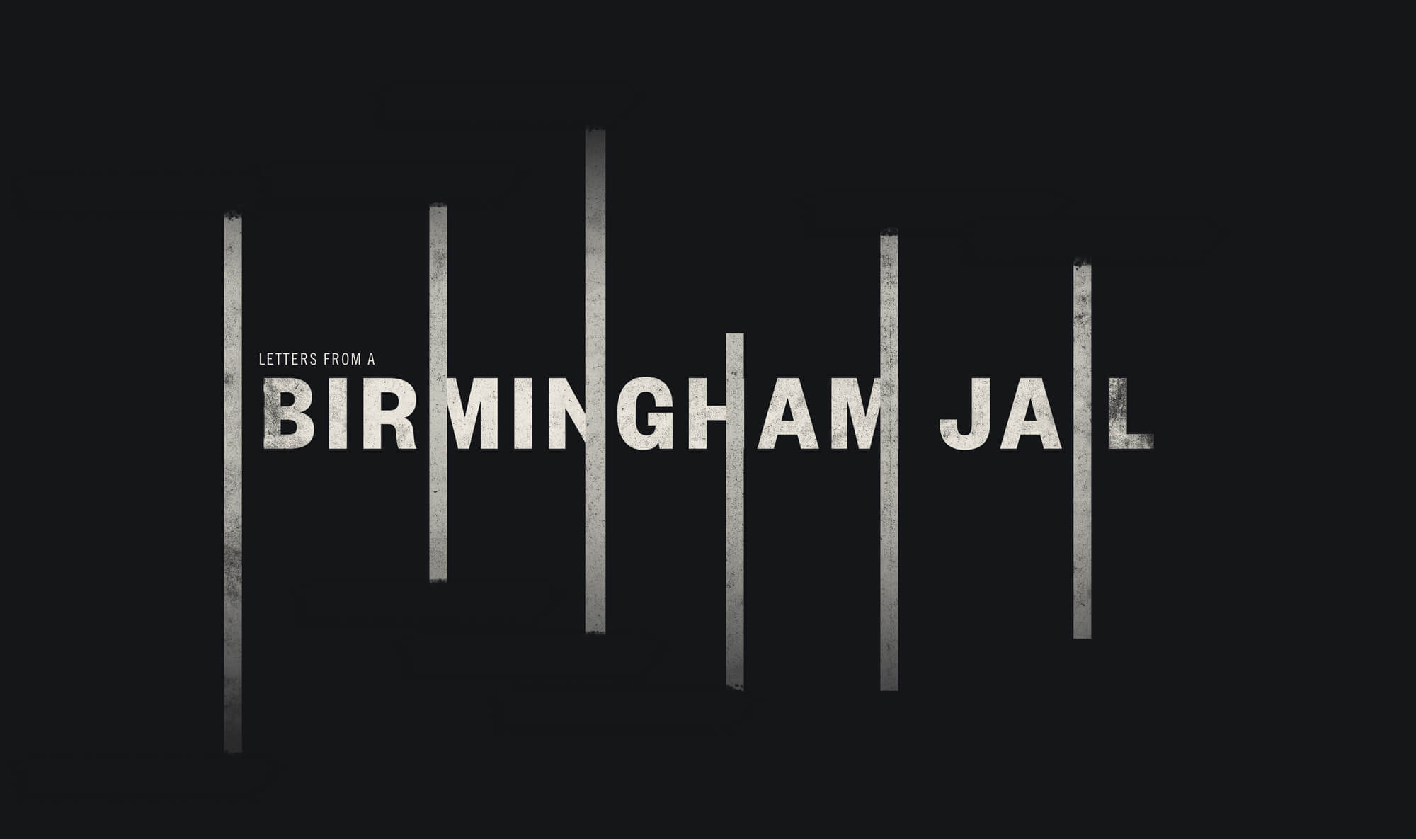 A typographic super for the Birmingham Jail chapter of this site