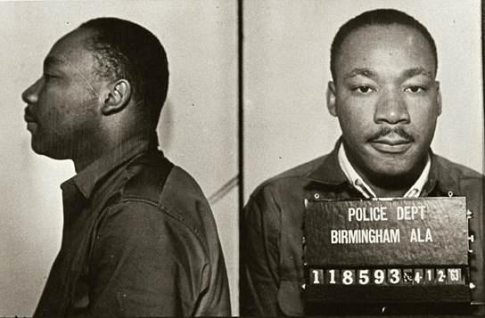 A mugshot of MLK