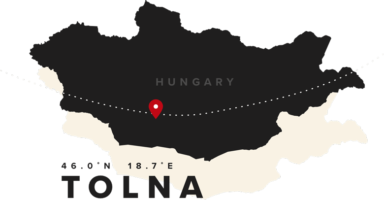 An illustrated map of Hungary