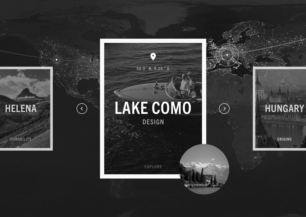 A layout concept for the Tumi Latitude hub