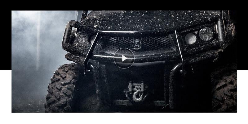 A video portion of a website with a play button over an image