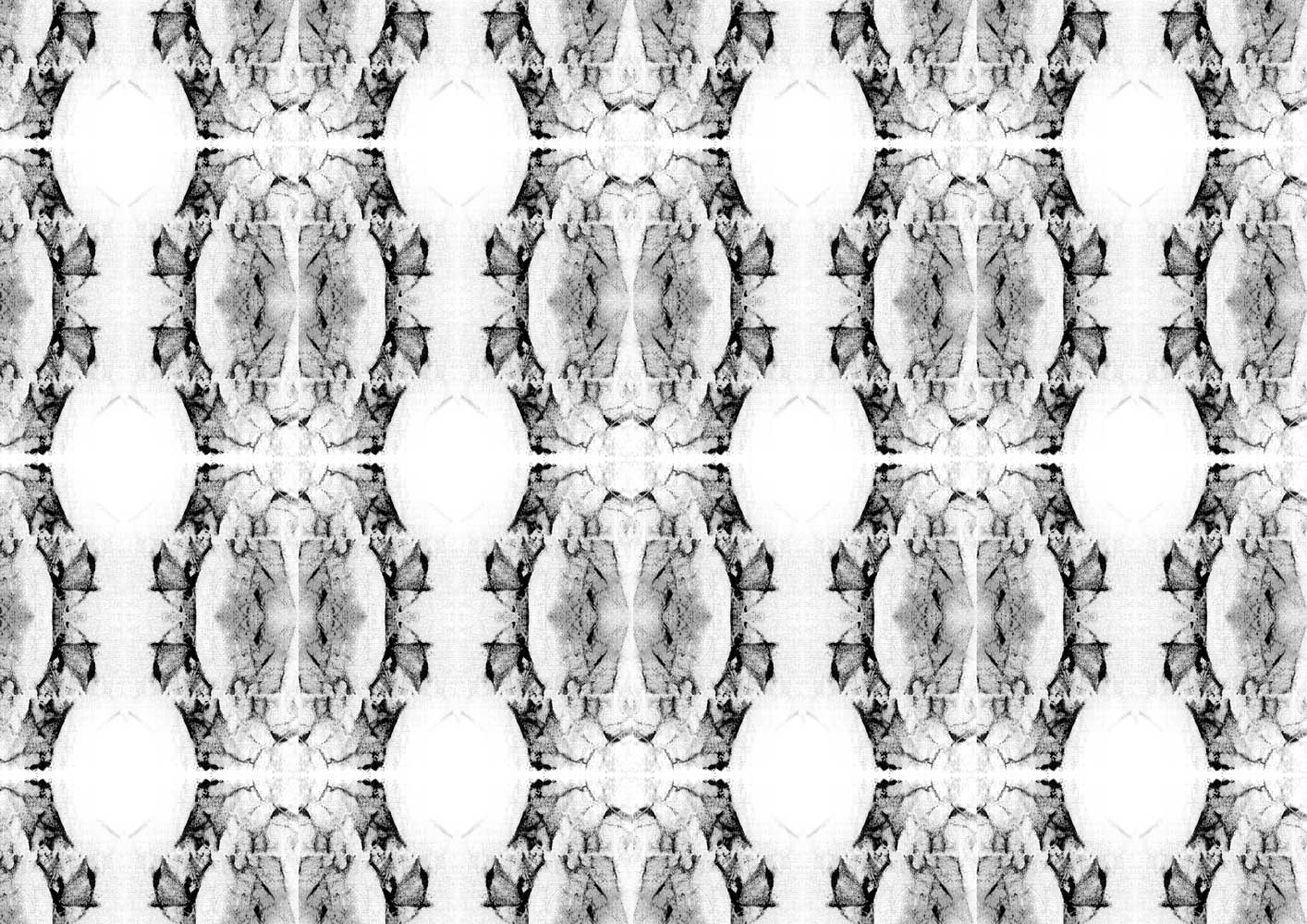 Detailed symmetrical print with wavy structure by Maximiliane Tilch