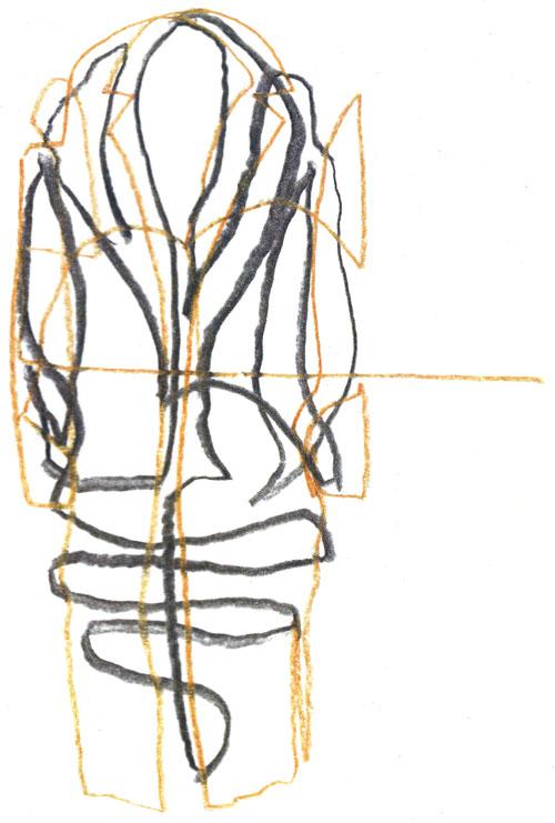One line fashion sketching
