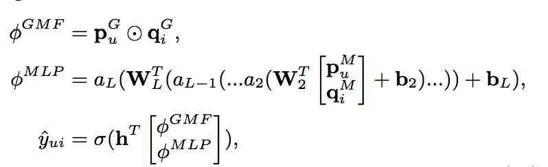NeuMF math